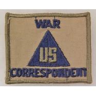 US WAR CORRESPONDENT...