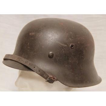 CASQUE M-1942 CAMOUFLE WH 2ème GM. WW2 GERMAN M1942 CAMO STEEL HELMET