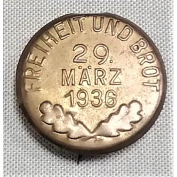 INSIGNE DE JOURNEE 29 MÄRZ 1936 ALLEMAGNE