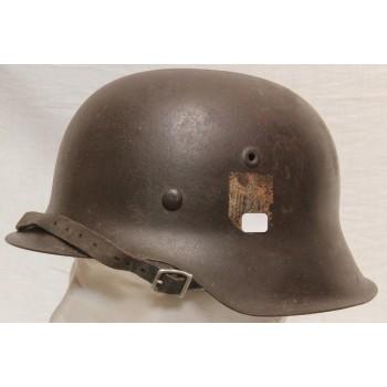 CASQUE M-1942 WH AVEC INSIGNE  2ème GM. WW2 GERMAN ARMY M1942 STEEL HELMET WITH DECAL