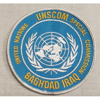 INSIGNE TISSU UNSCOM BAGHDAD IRAQ
