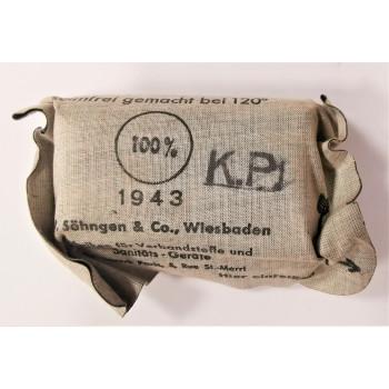PANSEMENT INDIVIDUEL 1943 WEHRMACHT ALLEMAGNE WW2