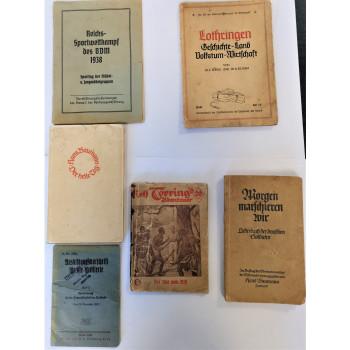 LOT DE 6 LIVRES WEHRMACHT BDM ALLEMAGNE 1933-1945