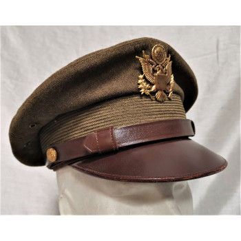 CASQUETTE D'OFFICIER US ARMY 2ème GM