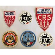 LOT DE 6 PATCHES POLICE...
