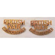 BRITISH WAR PHOTOGRAPHER